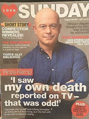 Love Sunday Magazine July 16th 2017 Ross Kemp Cover Story Interview