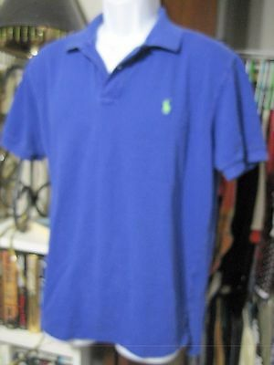 Ralph Lauren Polo mens large polo shirt, blue violet, good condition, green pony