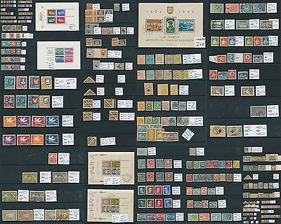 ESTONIA OLD Sheets Arms Red X Air Triangulars Imperfs Collection(270+)ALB120
