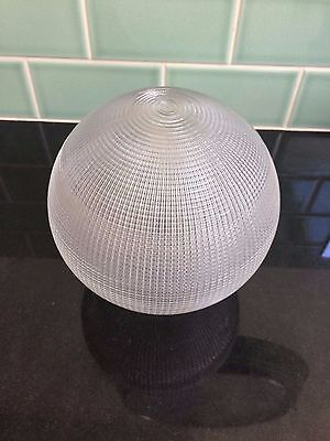 Heavy Art Deco Glass Ball Faceted Lamp Shade
