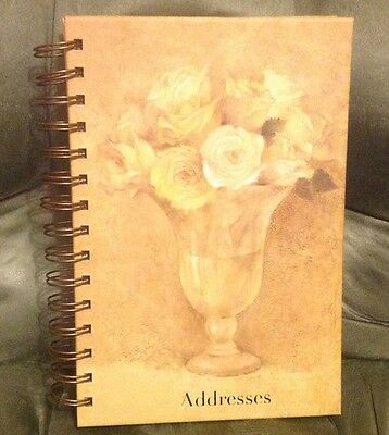 Address Telephone Directory Book ~ Tri Coastal Design ~ Floral Design ~MINT COND
