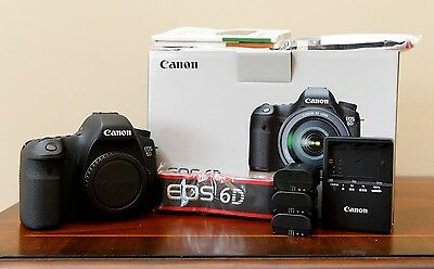 Canon EOS 6D 20.2MP Digital SLR Camera - Black (Body Only) + Extra Batteries