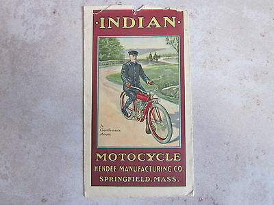WOW! Super Rare 1910 lithograph Indian Motor Cycle envelope from Hendee Manuf.