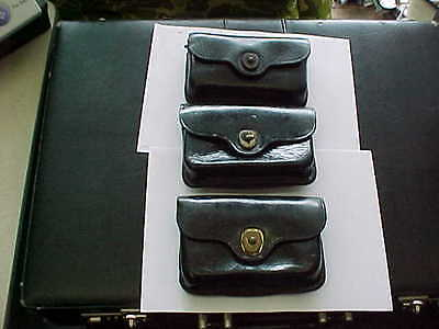 Us Vietnam Era Military Police Leather First Aid Pouch (3) 1966 And 1973 Bolen