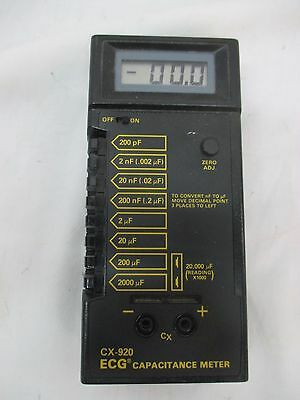 ECG Products Capacitance Meter Digital Model No. CX-920 FAST Shipping!