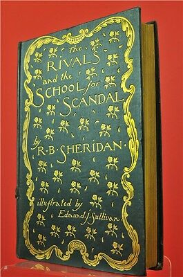 The Rivals And The School For Scandal By R.B. Sheridan 1896 Hardback Book