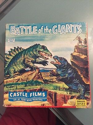 Battle Of The Giants Castle Films SUPER 8MM Black And White #1014