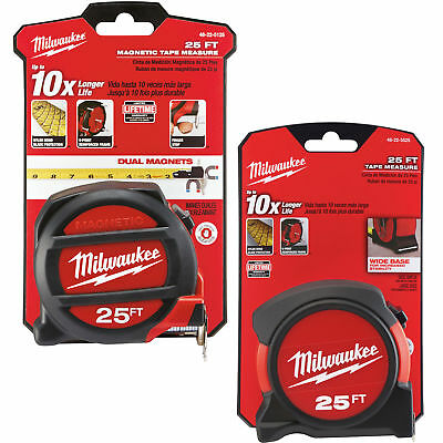 25' Magnetic Tape Measure w/ FREE 25' Tape Measure Milwaukee 48-22-5125G New