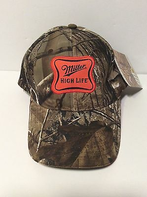 Real Tree Miller High Life Camouflage Snapback Hat- Baseball Cap NWT NEW