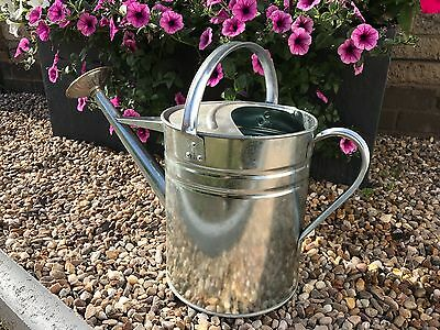 Genuine Parasene Metal Watering Can 2 Gallon Complete With Brass Rose