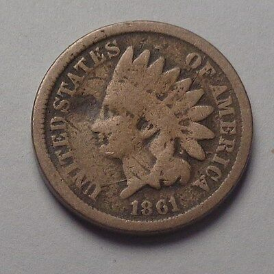1861 Indian Head Cent,nice Tougher Date!!!(G)