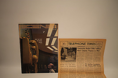 """Vintage Southwestern Bell Telephone Magazine March 1966 Issue Of Scene """"new Hot"""