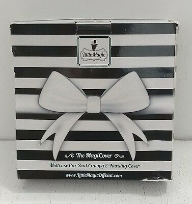 The Magicover Baby Car Seat Canopy & Multi-Use Nursing Cover - Black and White