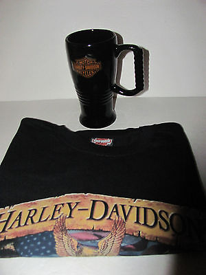 Harley Davidson  2Xl T-Shirt And Cup Combo ****check It Out!