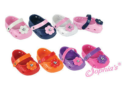 Sophia's Ballerina Polliwog Sandals with Flowers Fit American Girl Dolls