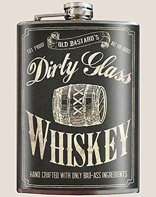 Trixie & Milo Dirty Glass Whiskey Flask NIP Ships from US