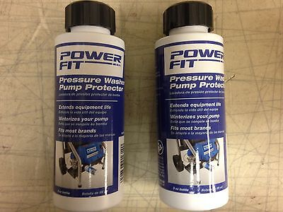 PowerFit Pressure Washer Pump Protector PF31003 Power Fit Lot of 2, 3 oz Bottles