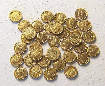 Lot of 36 Miniature Gold Coins -