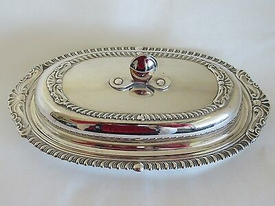 Vintage Sheridan Silverplate Covered Butter Dish