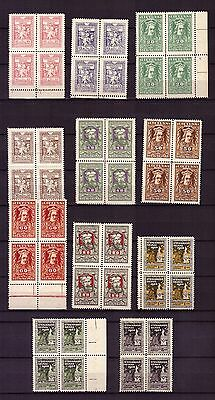 Litauen Lietuva Lithuania 76/86 ** MNH in 4-er Blocks! Nationalversammlung 1920