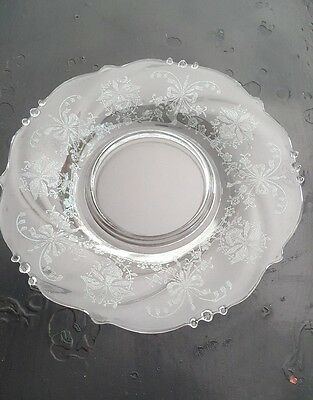 "Heisey Orchid Crystal Waverly 7"" Salad Plate"