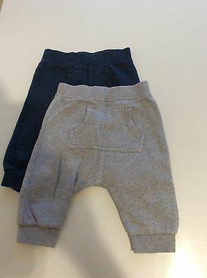 2 pairs of NEXT Baby boy jogging bottoms trousers great condition 3-6 months