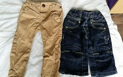 2 pairs boys next trousers 6/9 months