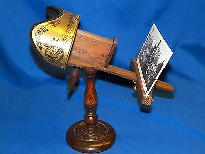 Vtg 1970 Repro Holmes Pedestal 3D Stereo Viewer Stereoscope Photograph +31 Cards