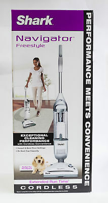 Shark Navigator Freestyle Rechargeable Cordless Upright Stick Vacuum in White