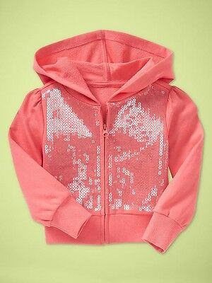Nwt Baby Gap Girls Key West Chasing Spring Sequin Hoodie Size 5