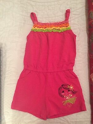 Kids R Us Toddler Girl One Piece Hot Pink Romper, Size 3T