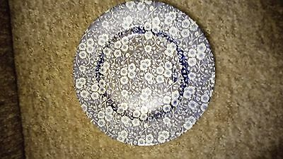 "Burleigh ""Blue Calico"" Dinner Plate"