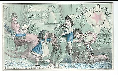 Victorian Trade card, Domestic Sewing Machine Co.
