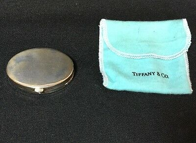 Vintage Tiffany & Co Sterling Silver Oval Compact Case With Mirror