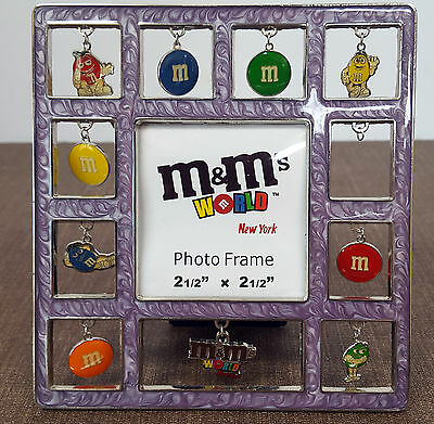 """M&M's Picture Frame. Fits 2.5x2.5 inch photo.  M&M """"Charms"""" hang from windows."""
