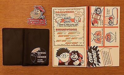 Vintage Dennis the menace beano fan club dandy desperate dan comic badge wallet