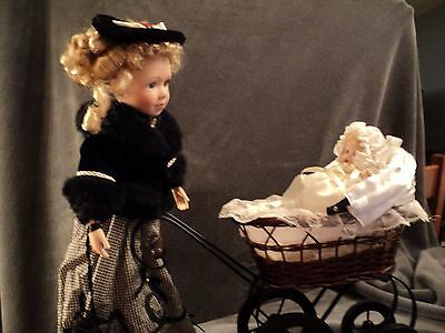 Baby's Dream Mother & Child Dolls Victoria & Elizabeth W/buggy Mint In Box!