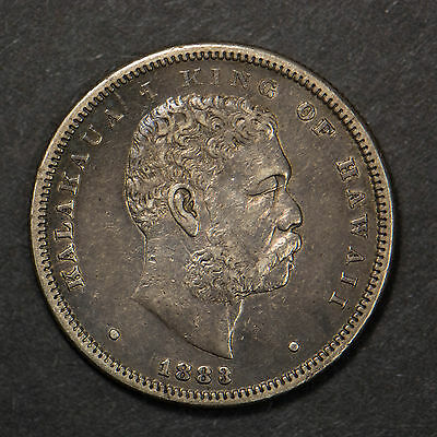 1883 Kingdom Of Hawaii King Kalakaua Silver Half Dollar    (Lot #2)