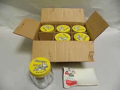 """""""6"""" Vintage NOS Glass Oster Osterizer 8 ounce Mini Blend Jars Containers (A8)"""