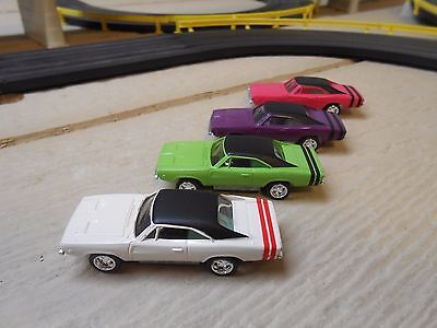JL AW THUNDER JET 500  Dodge Charger Bodies on pull back chassis. Set of 4