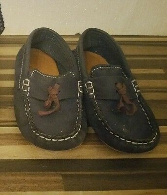 Zara Baby Dream Big Shoes Loafers- Size 25 - Navy Blue Suede