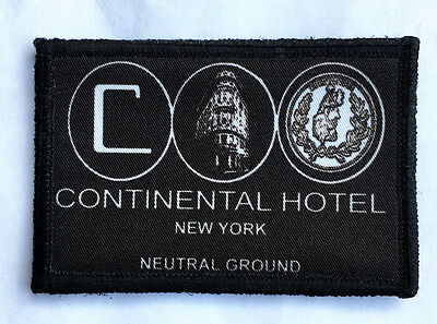 John Wick Continental Hotel Morale Patch Tactical Military Army FUNNY Flag USA