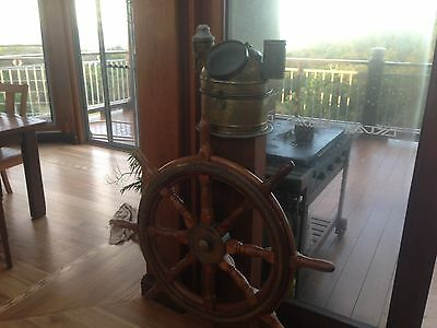 Ships Wheel and Binnacle Compass