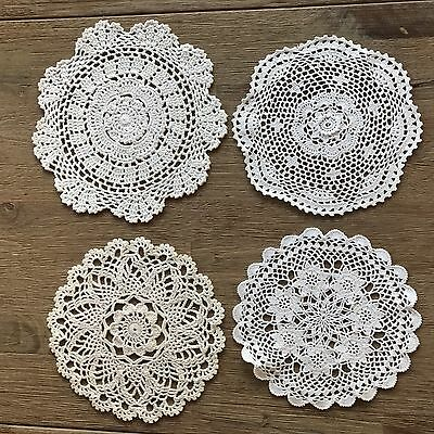 Vintage Set Crochet Doiley Suit  Dreamcatchers White and off white