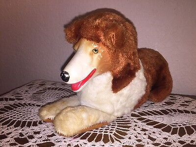 Vintage Lassie Stuffed Animal 1950s Rubber Face