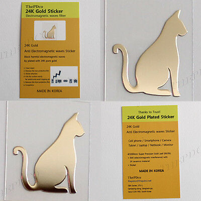 TPD Wholesale 24K Gold Plated Anti Radiation Block Shield Sticker Cat No1 50 pcs