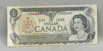 1973 $1 Bank Of Canada Ottawa $1 Note / Bill! No Reserve!