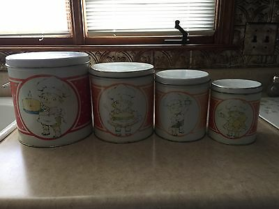 Vintage Campbell Soup Set Of 4 Canisters