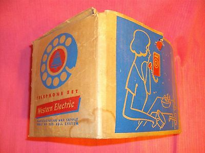 Original Western Electric Shipping Box With Used 500 Phone Set- Decent