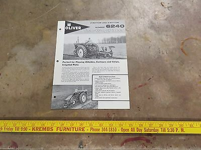 Oliver 6240 Two-Way plows Brochure